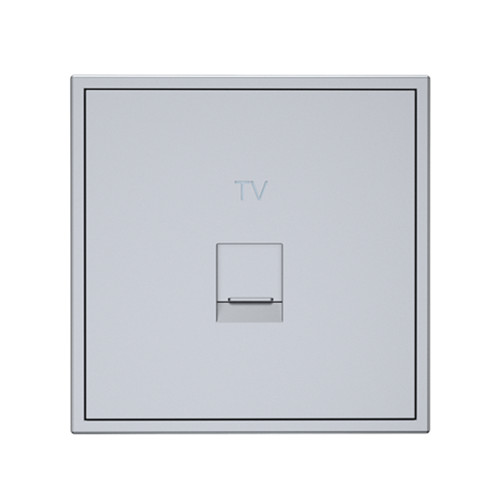 Tile 1 Port Cable TV Wall Plate (CATV)