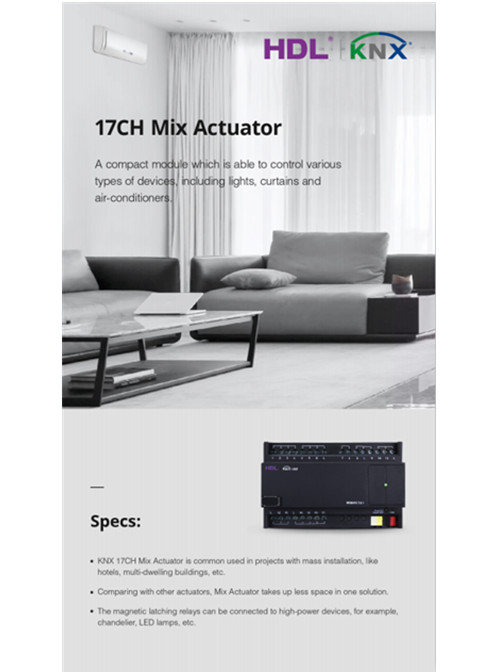 KNX 17&19CH Mix Actuator
